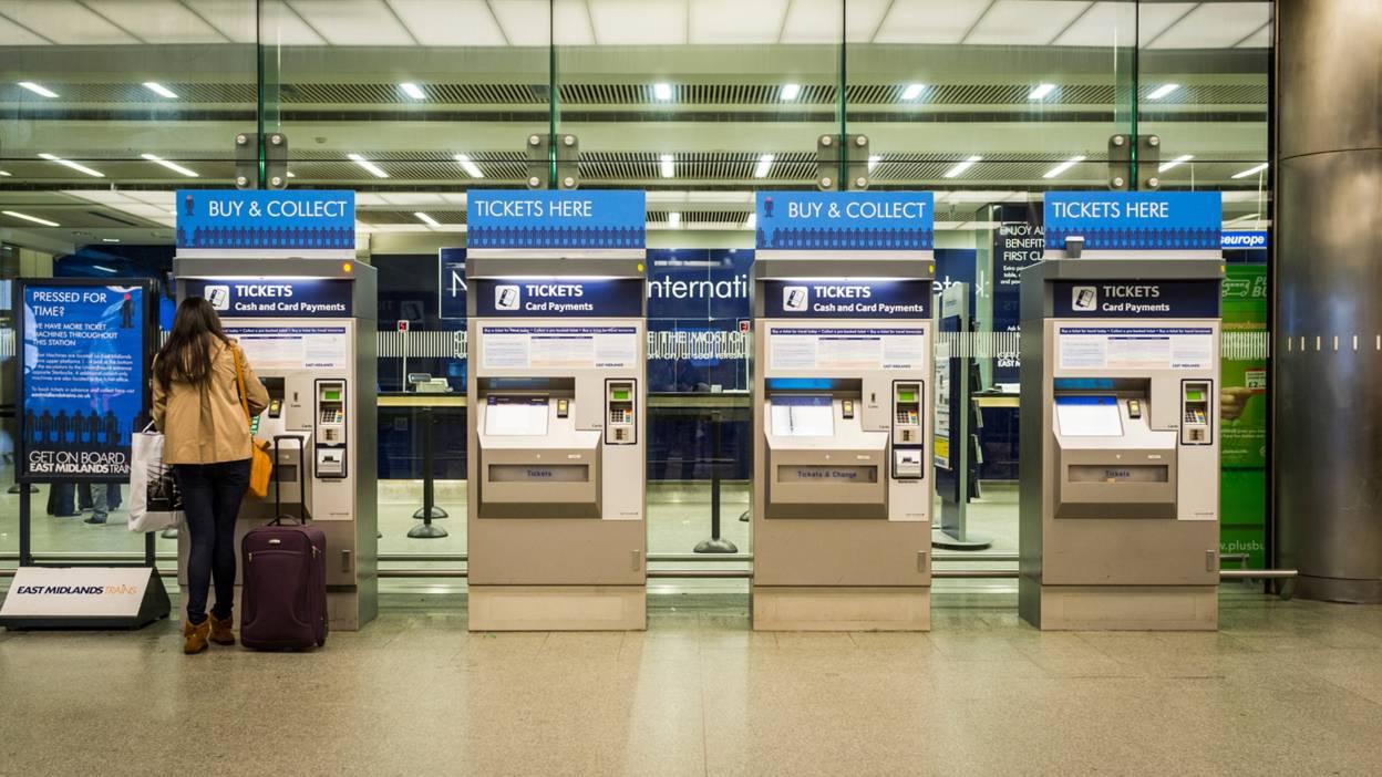 Ticket machines.