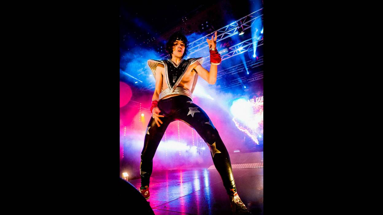 Kereel at the Air Guitar World Championships in 2015.