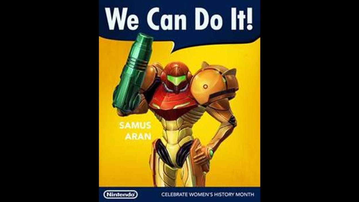 Wonder why they didn't go with Samus in a bikini for this occasion...