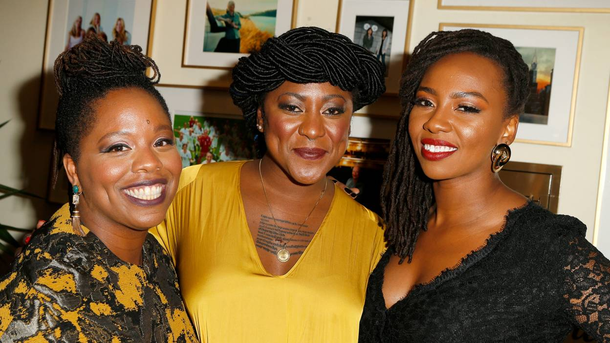 BLM founders Patrisse Cullors, Alicia Garza, and Opal Tometi