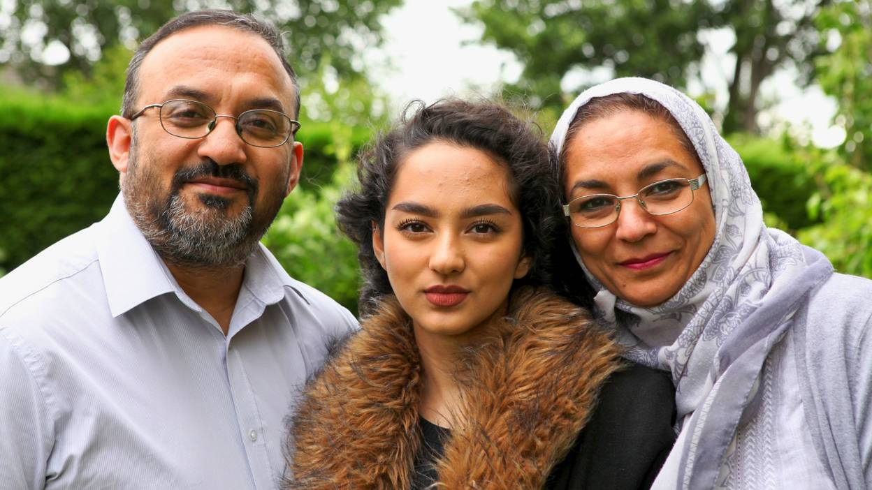 Hiba and her parents