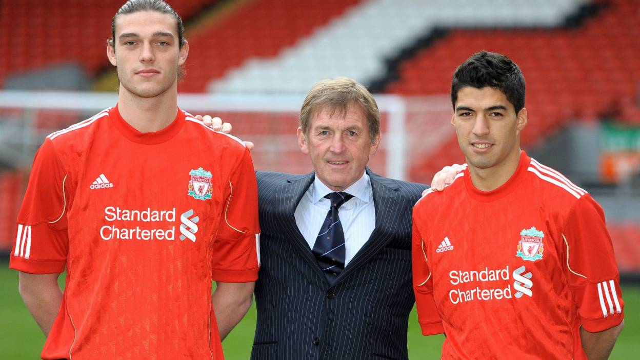 Kenny Daglish Luis Suarez and Andy Carroll