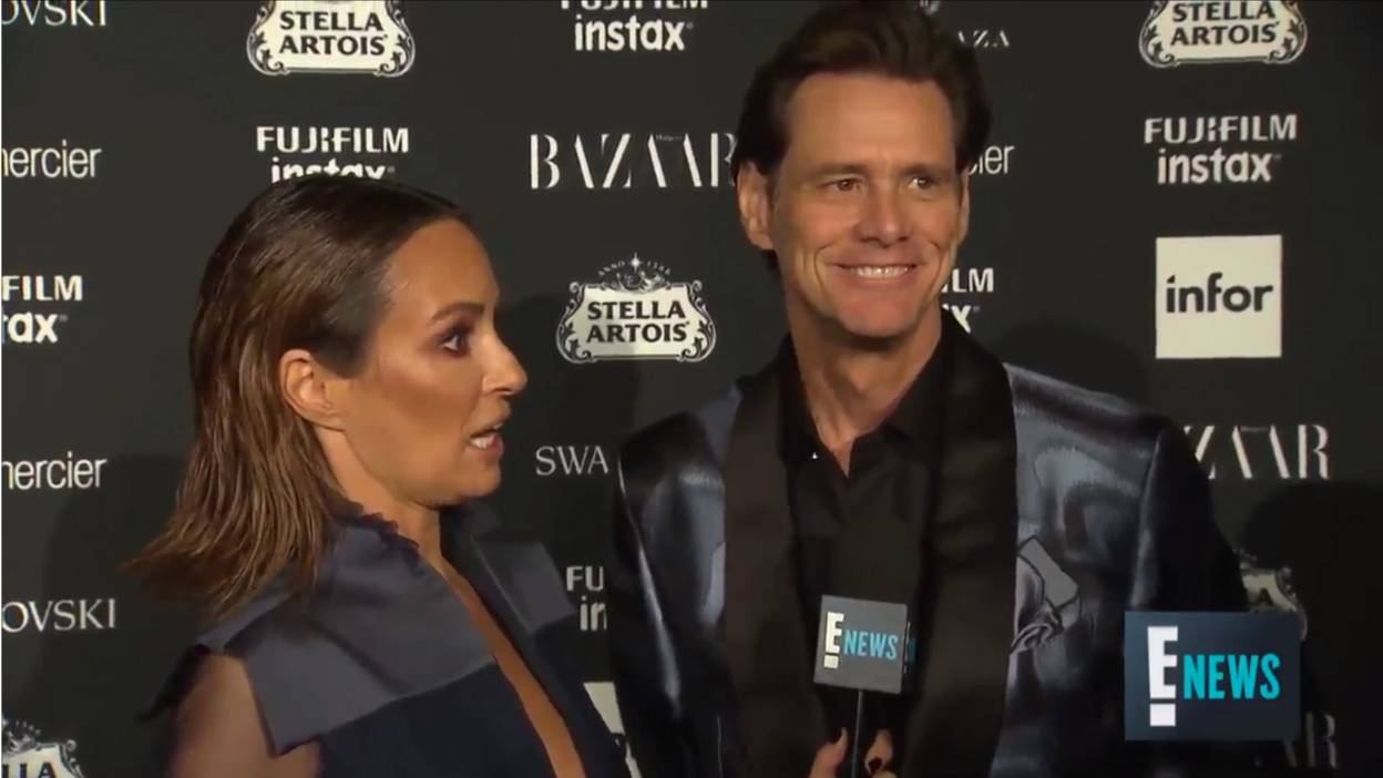 Jim Carrey interviewed at NYFW