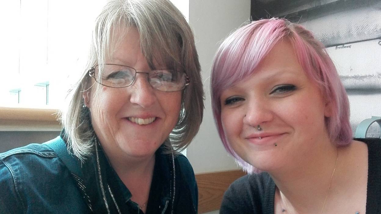 Becky and her mum