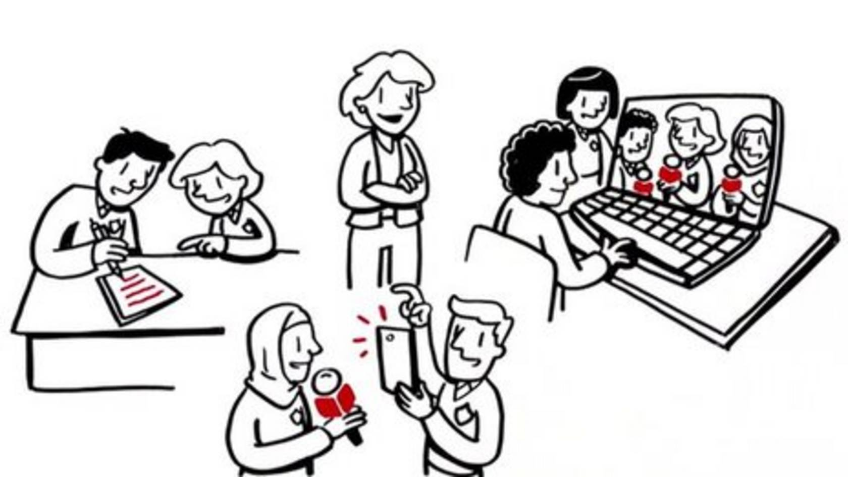 Animation of School Reporters