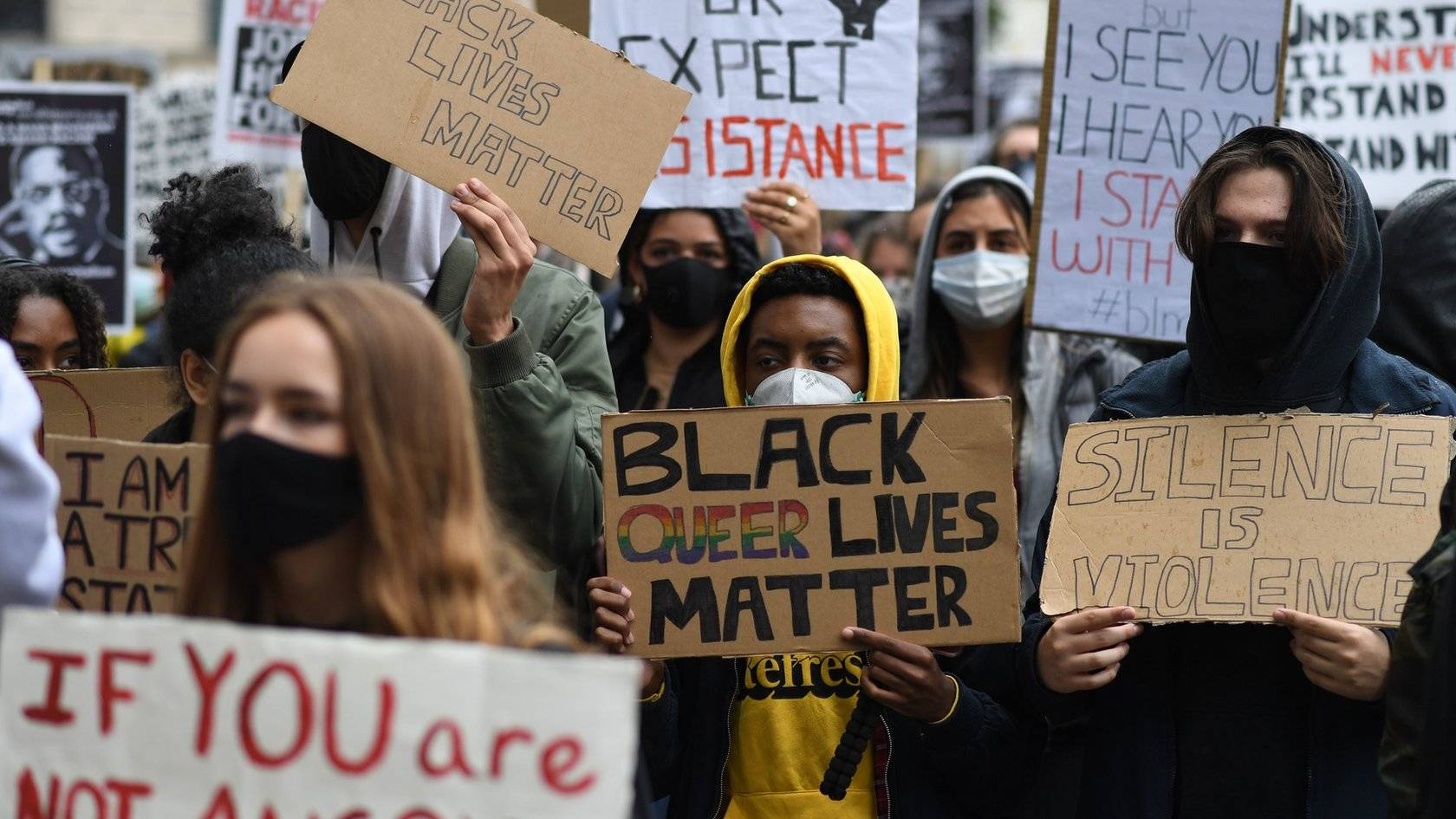 Virus warnings as people take to the streets