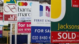 For sale signs in London