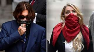 Johnny Depp and Amber Heard arrive at court in London on Thursday