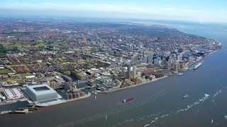 The location of the new site in relation to the Pier Head, currently used by ferries from the Isle of Man