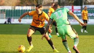 Newport's Robbie Willmott on the ball