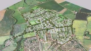 Proposed new urban village near Ripon