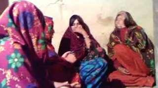 Four women in amateur video footage