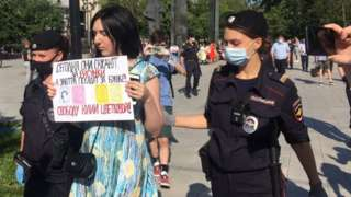 Activist detained in Moscow