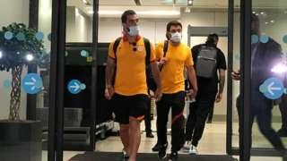 GS'li oyuncular havalimanında