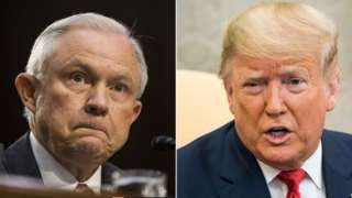 Composite image of Jeff Sessions and Donald Trump