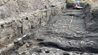 Excavation of waggonway