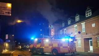 Fire on Southwark Street, Basford, Nottingham