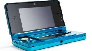A flourescent green 3DS is seen in this product shot