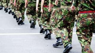 Army marchers