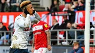 Callum Robinson of Preston North End celebrates scoring