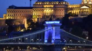 The Lanchid Chain Bridge in Budapest