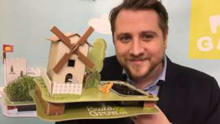 Dan Robson with his Build and Grow windmill set