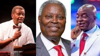 Adebo, Kumuyi, Oyedepo