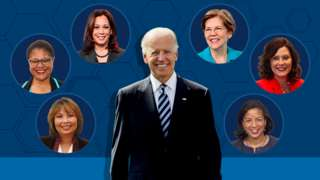 Biden with six candidates for VP