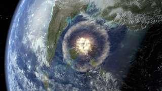 Ilustración del impacto de un asteroide