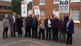 East Bergholt protest