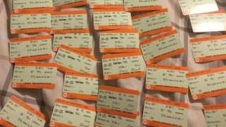 More than 50 tickets for Mr Heywood's rail journey