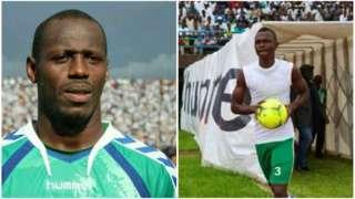 Samuel Barley (L) and Ibrahim Koroma (R)