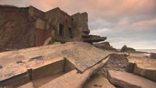 Old defences on Spurn