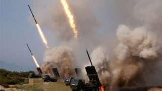 지난 5월 북한의 군사훈련