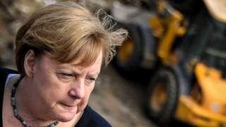 Angela Merkel in Schuld