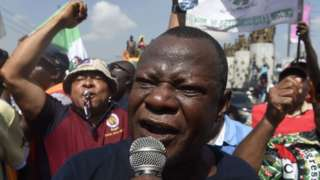 Nigerian Labour union oga dey use mic tok for protest