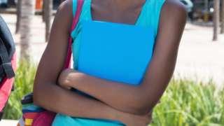 A female university student in Kenya