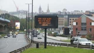 Information board in Sheffield