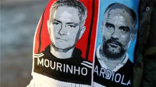 Mourinho and Guardiola scarves