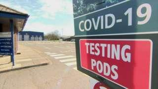 Covid-19 testing pods Kilkeel