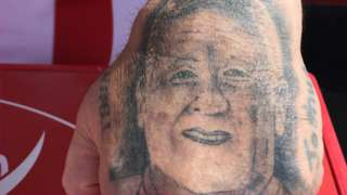 A Sheffield United fan Chris Wilder tattoo
