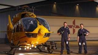 Air ambulance and crew