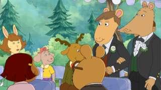 A still from an episode of the children's cartoon Arthur