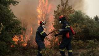 Firefighters on Evia, 10 Aug 21