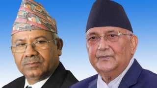 माधव नेपाल र केपी ओली