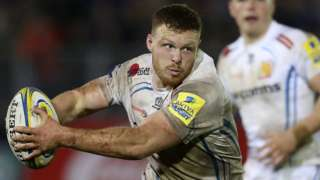 England and Exeter number eight Sam Simmonds