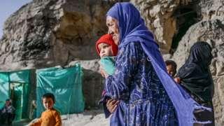 Hazara woman in Bamiyan, Afghanistan