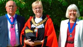 Richard Crumly (left) Ellen Crumly (centre) and Jan Cover (right)