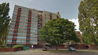 Pickwick House tower block in Portsmouth