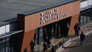 General view of Milton Keynes University hospital